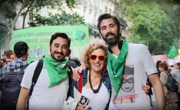 Con Alejandro Aymú y Luis De Grazia Barberio mis amigxs de lucha